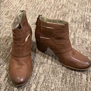Josef Seibel Brown Leather Booties Sz 8